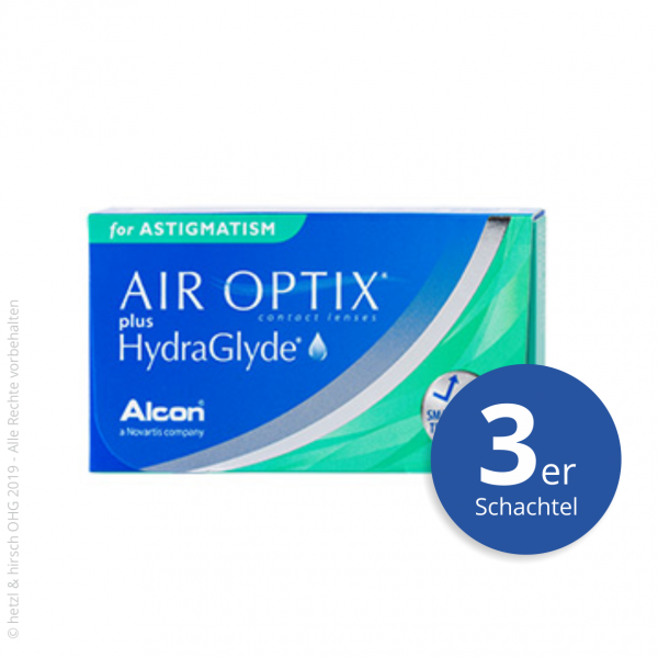 Alcon Air Optix plus HydraGlyde for Astigmatism 3er Monatslinsen