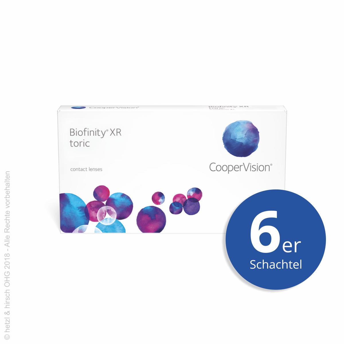 günstig niedriger Preis auf Lager CooperVision Biofinity XR toric 6er Monatslinsen