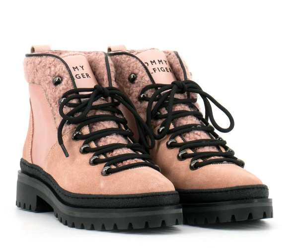 Tommy Hilfiger - Damen Boots rosa - FW0FW04349