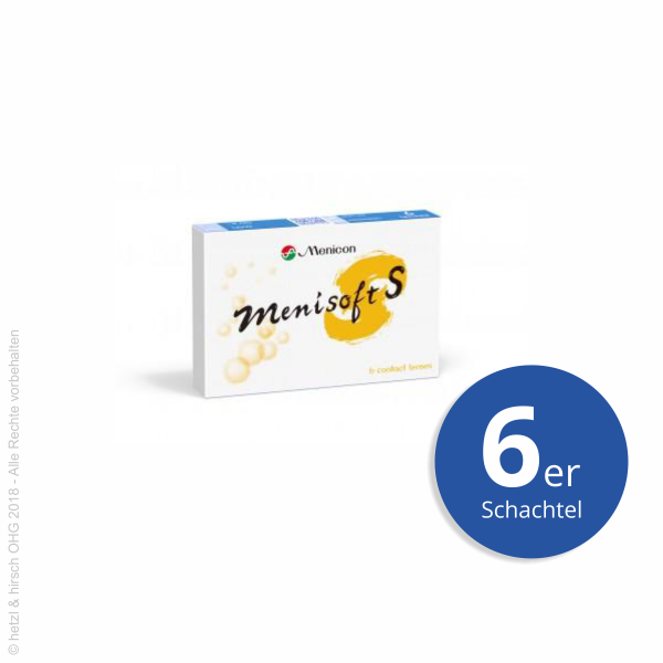Menicon MenisoftS 6er Wochenlinsen