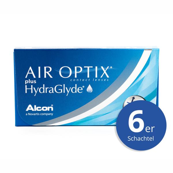 Alcon Air Optix plus HydraGlyde 6er Monatslinsen