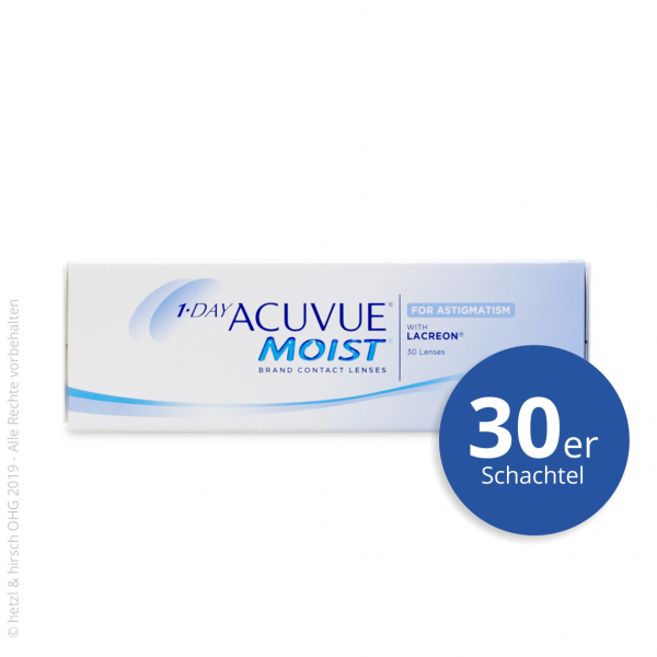 1-Day Acuvue Moist for Astigmatism 30er Tageslinsen