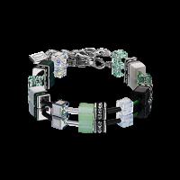 Coeur de Lion GeoCUBE® Armband - grün-pastell