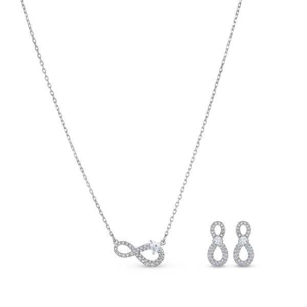 Swarovski - Infinity Set silber-rhodiniert - 5540702
