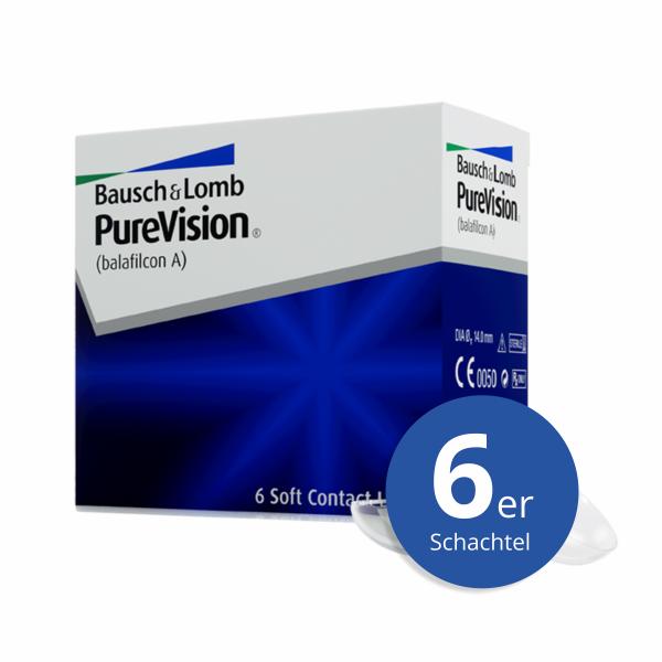 Bausch+Lomb PureVision 6 Stück Monatslinsen