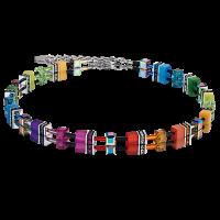 Coeur de Lion GeoCUBE® Halskette Swarovski® - rainbow