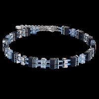 Coeur de Lion GeoCUBE® Halskette Swarovski® - dunkelblau