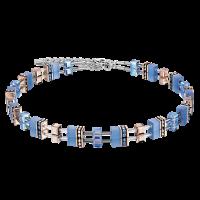 Coeur de Lion GeoCUBE® Halskette Swarovski® - hellblau