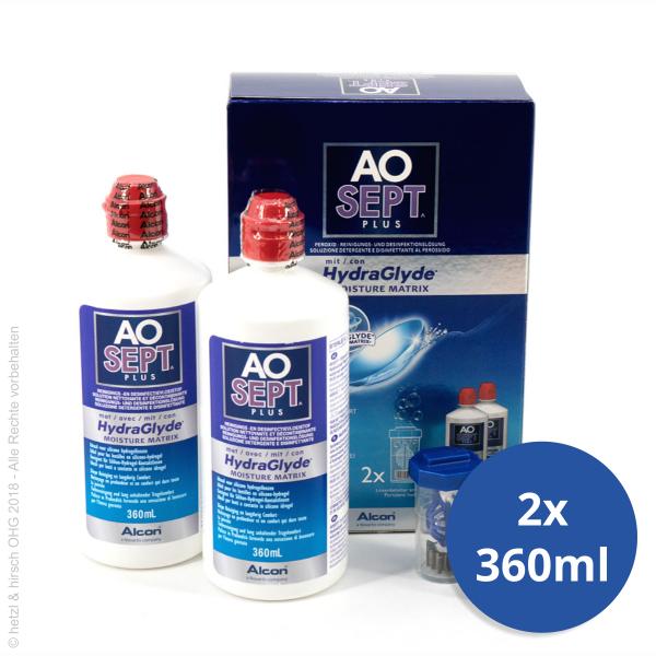 Alcon AOSEPT plus mit HydraGlyde 2x 360ml