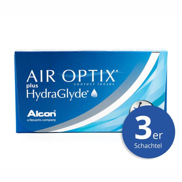 Alcon Air Optix plus HydraGlyde 3er Monatslinsen