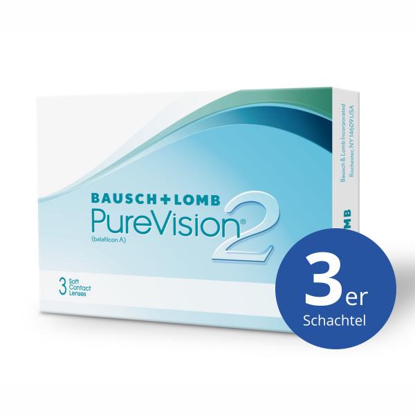 Bausch+Lomb PureVision2 HD 3 Stück Monatslinsen