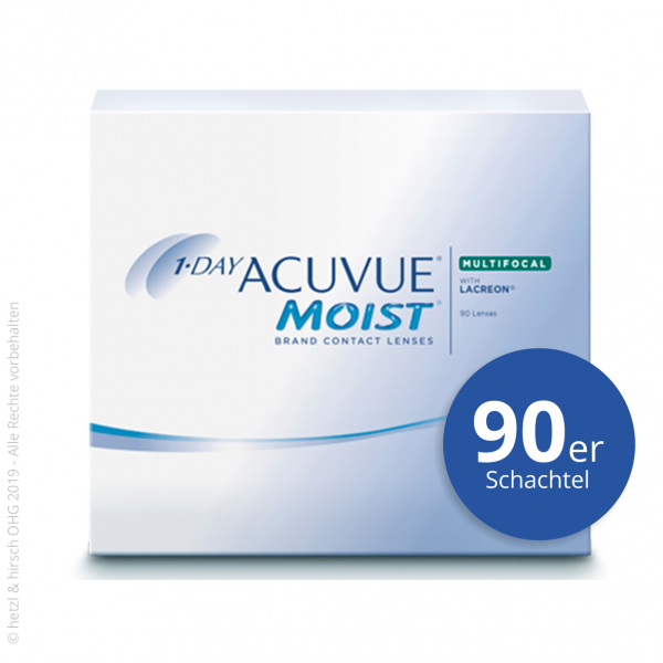 1-Day Acuvue Moist Multifocal 90er Tageslinsen