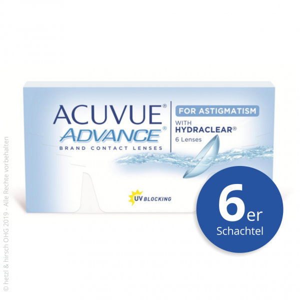 Acuvue Advance for Astigmatism 6er Zwei-Wochenlinsen