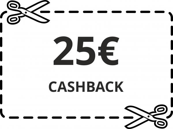 25 € Cash-Back Gutschein