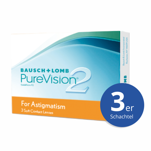 Bausch+Lomb PureVision2 HD for Astigmatism 3 Stück Monatslinsen
