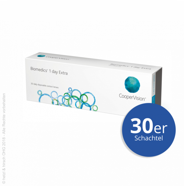 CooperVision Biomedics 1 day Extra 30er Tageslinsen