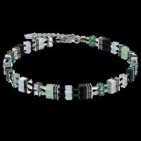 Coeur de Lion GeoCUBE® Halskette Swarovski® - grün-pastell