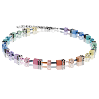 Coeur de Lion GeoCUBE® Halskette Swarovski® - Multicolor soft