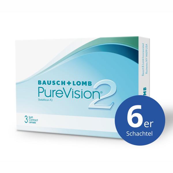 Bausch+Lomb PureVision2 HD 6 Stück Monatslinsen